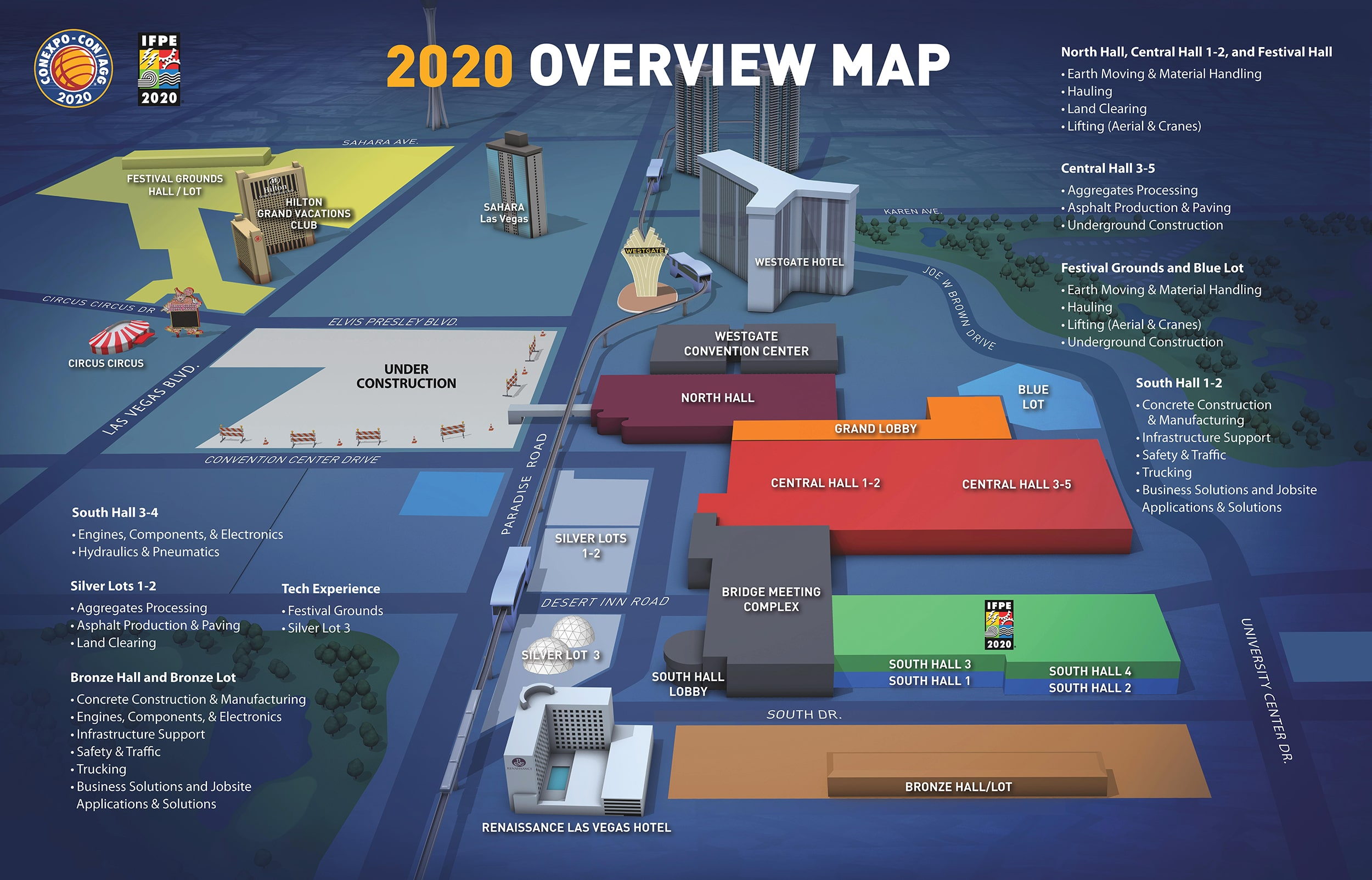 CONEXPO-CON/AGG 2020 Overview Map